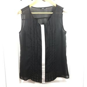 MEXX Black and Silver Detail Sheer Tank Size 8